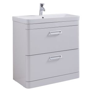 Kartell Metro 800mm Floor Standing Basin Unit with Ceramic Basin