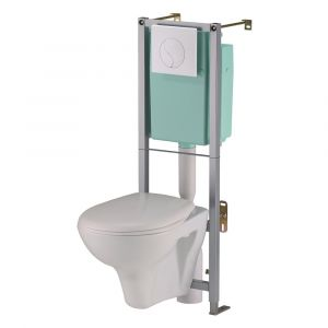 Siamp Samoa In Wall Frame System with WC Pan, Cistern and Flush Plate