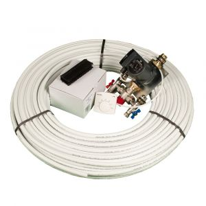 20m² Single Room Single Circuit Underfloor Kit & Dial Stat