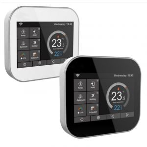 Snug White Touch Screen Electronic Thermostat