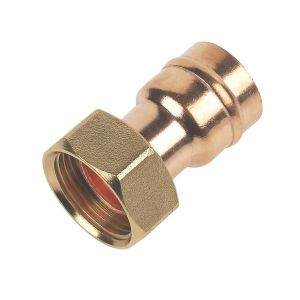 Solder Ring Straight Tap Connector 22mm x 3/4