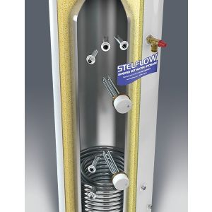 RM Stelflow 210 Litre Solar Direct Unvented Stainless Steel Cylinder