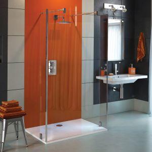 Coram Stylus Return Shower Panel - Clear Glass - Chrome - 200mm