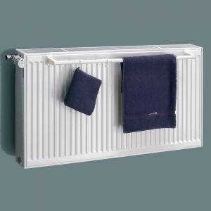 Eucotherm White Double Panel Towel Rail 600mm