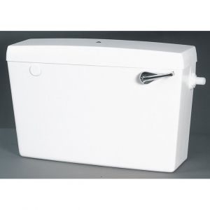 White Low Level Plastic Cistern - Bottom Inlet